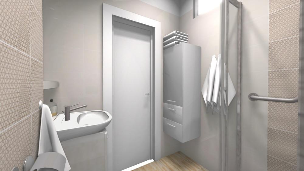 Motyw_geometryczny, projekt łazienki, wyposażenie łazienek, łazienka bez barier