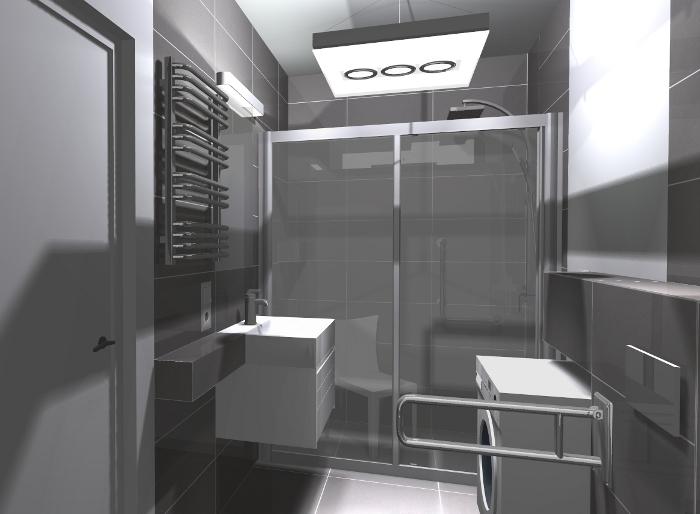 em3, łazienka dla niepełnosprawnych, łazienka bez barier, projekt łazienki dla niepełnosprawnych