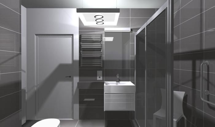 em4, łazienka dla niepełnosprawnych, łazienka bez barier, projekt łazienki dla niepełnosprawnych