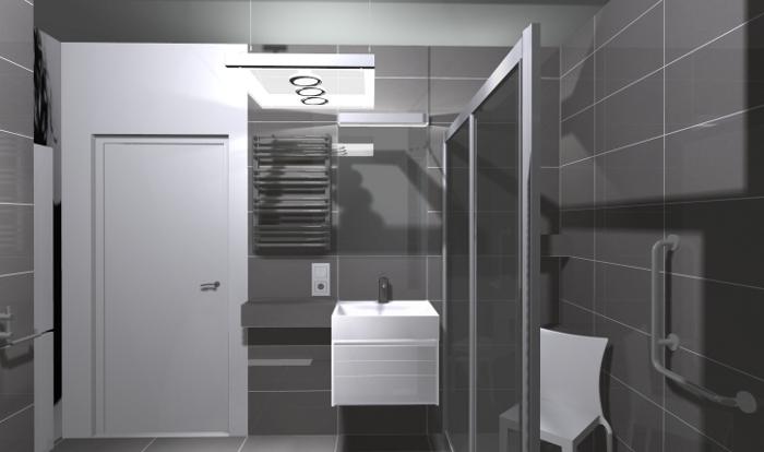 em42, łazienka dla niepełnosprawnych, łazienka bez barier, projekt łazienki dla niepełnosprawnych