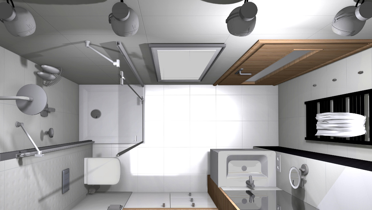 aranżacja łazienki, projekt łazienki, wyposażenie łazienek, łazienka na poddaszu