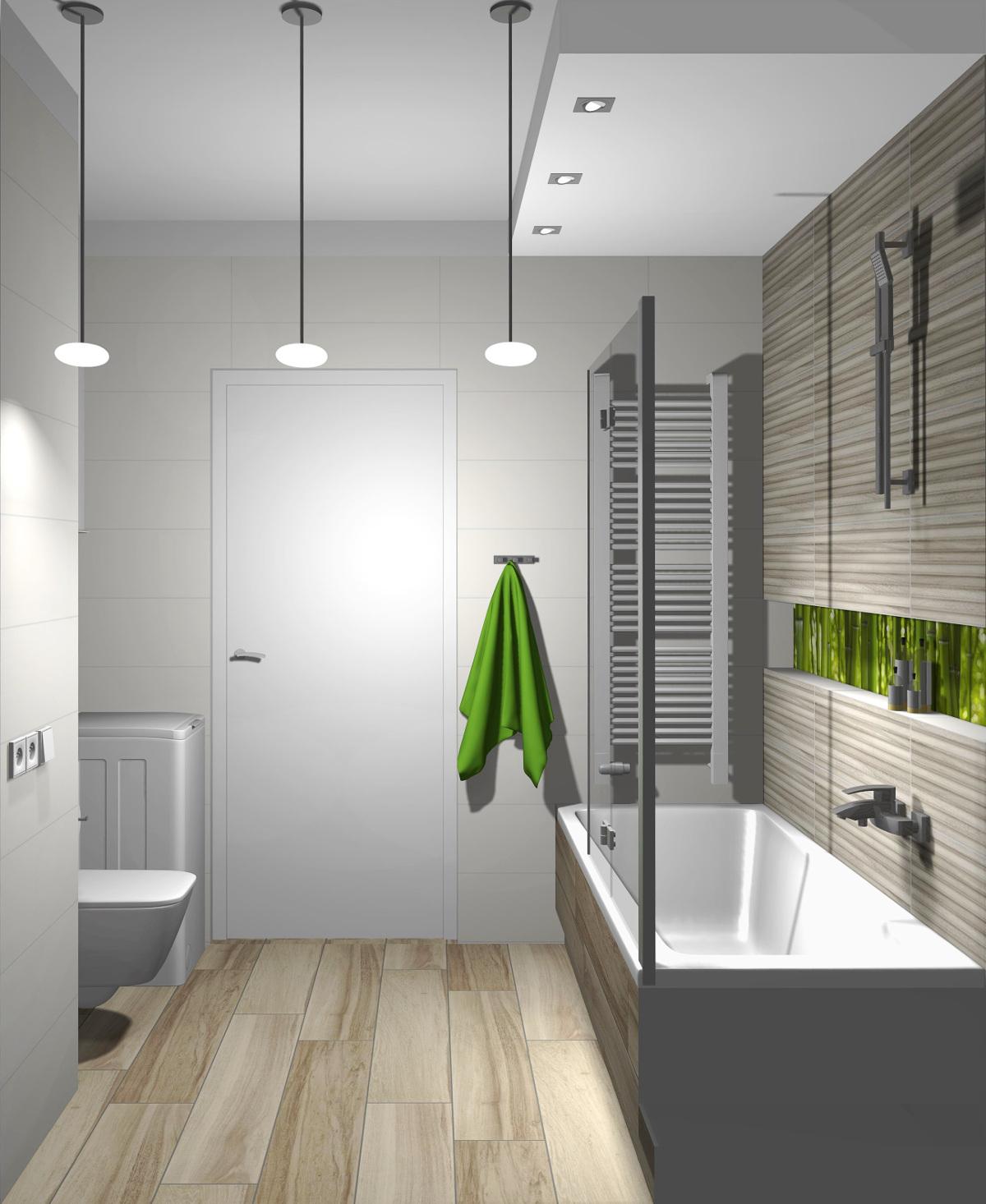 projekt łazienki, wyposażenie łazienki, aranżacja łazienki, Bambusowy las