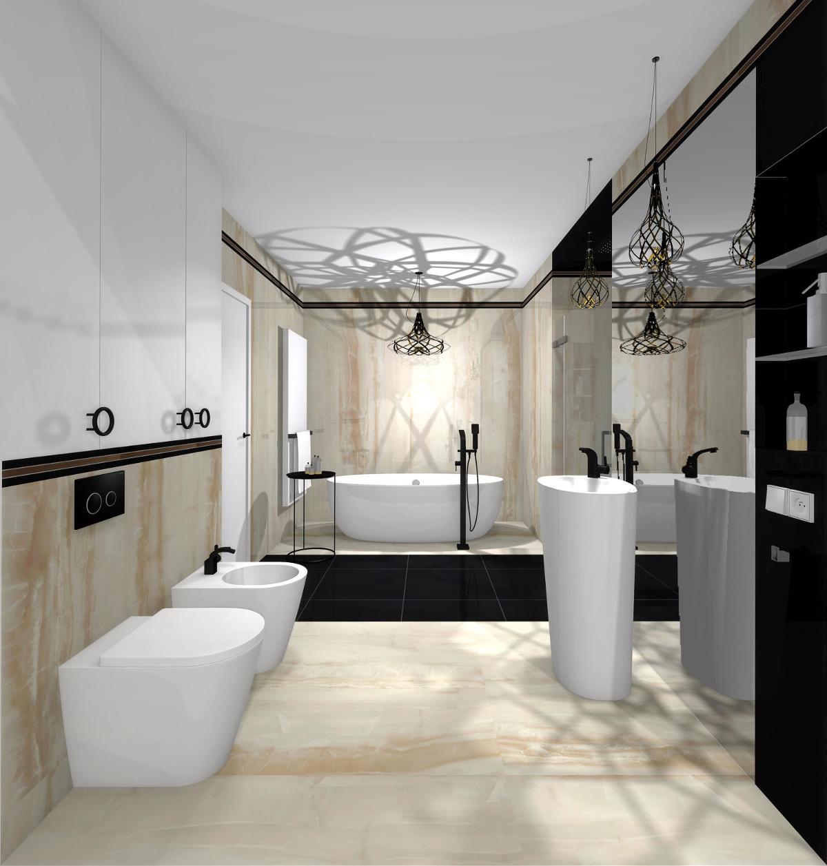 projekt łazienki, wyposażenie łazienki, aranżacja łazienki, płytki monolith