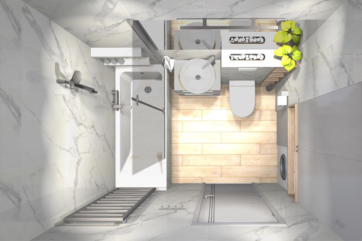 projekt łazienki, wyposażenie łazienki, aranżacja łazienki, imitacja kamienia